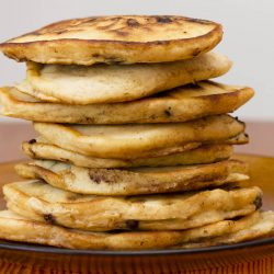 Peanut Butter & Chocolate Chip Pancakes
