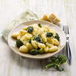 Browned Butter Gnocchi with Broccoli