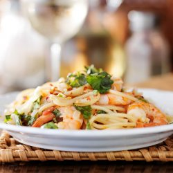Busy Burro Meal Package Angel Hair Pasta with Shrimp